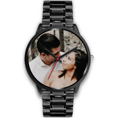 Personalized, Custom Design Your Own Wedding Watch Black Y2 With Your Personal Memory Photo, Gift For Her, Gift For Him