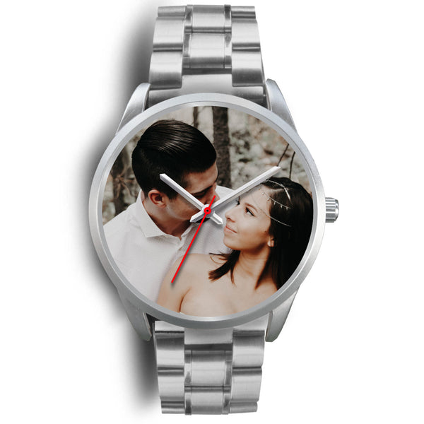 Personalized, Custom Design Your Own Wedding Watch Black Y3 With Your Personal Memory Photo, Gift For Her, Gift For Him