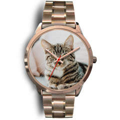 Custom Design Your Own Rose Gold Watch Cat A3 With Your Personal Memory Photo