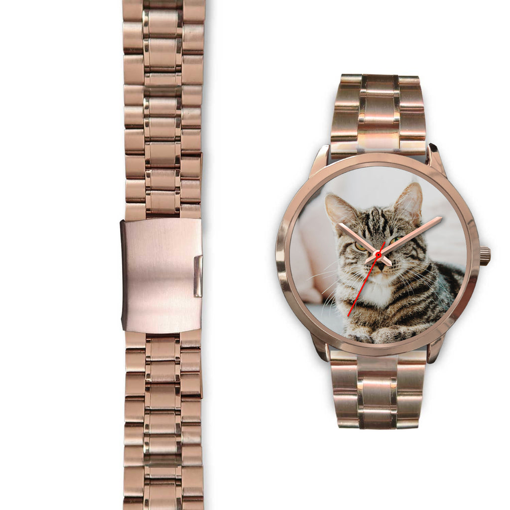 Personalized, Custom Design Your Own Rose Gold Watch Cat A3 With Your Personal Memory Photo, Gift For Her, Gift For Him