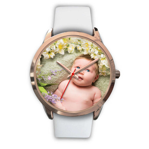 Custom Design Your Own Rose Gold Watch B1 Your Personal Baby Memory Photo
