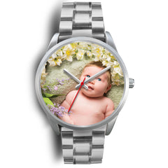 Custom Design Your Own Silver Watch B2 Your Personal Baby Memory Photo