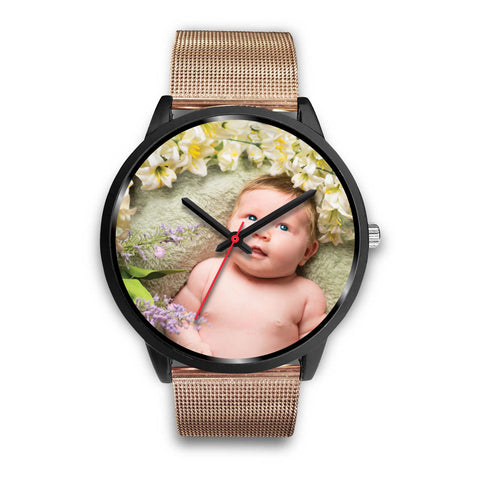 Custom Design Your Own Black Watch B3 Your Personal Baby Memory Photo