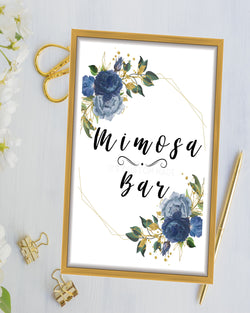 Copy of Tropical Garden Party Bridal Shower Sign - Mimosa Bar Sign - Bridal Brunch Mimosa Bar Printable - Spring Bridal Shower - Garden Bridal Brunch Decor