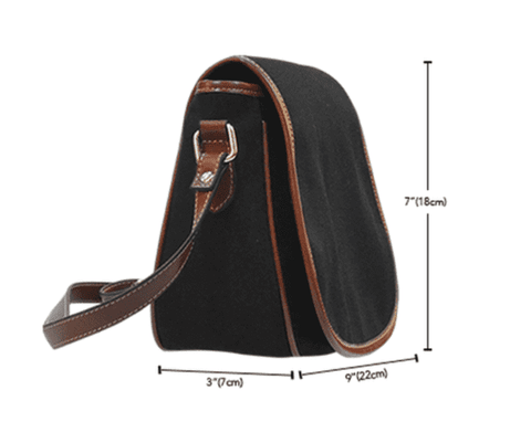 Trick or Treat (K8) Crossbody Shoulder Canvas Leather Saddle Bag - STUDIO 11 COUTURE
