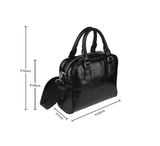 Jems and Holograms Themed Design B3 Women Fashion Shoulder Handbag Black Vegan Faux Leather