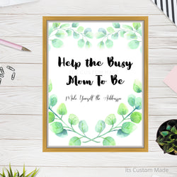 Help the Busy Mom To Be Wall Art Sign - Make Yourself the Addressee Wall Art Sign - Please Address an Envelope Printable Wall Art - Baby Shower Thank You Cards Wall Art Sign