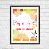 Citrus Sweets Table Sign/ Wedding Signs For Your Wedding/ Bar Signs/ Wedding Party Decorations/ Wedding Printable Sign