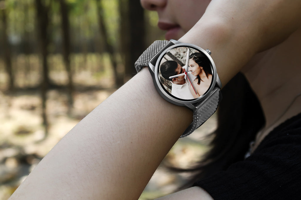 Custom Design Your Own Wedding Watch Black Y3 With Your Personal Memory Photo