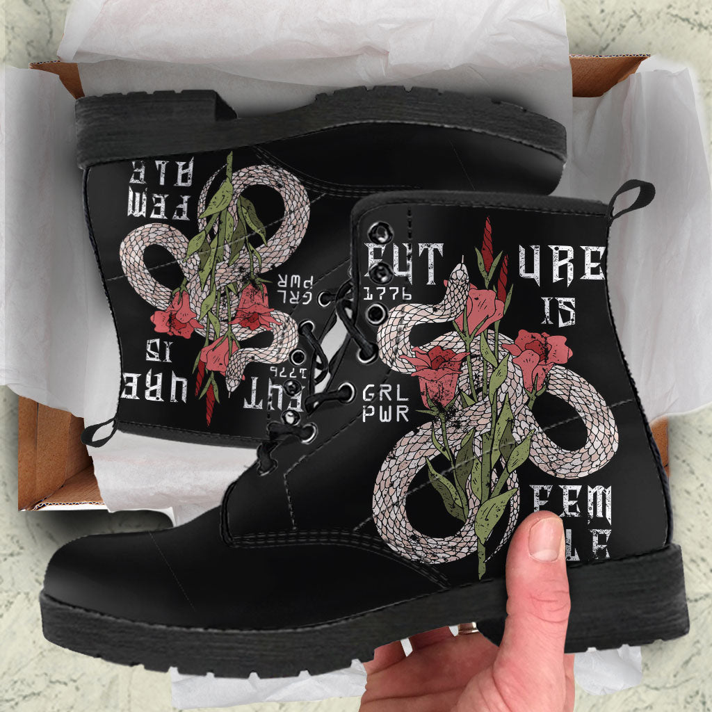 Future Is Female Womens Leather Boots