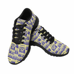 Model020 Women's Sneaker 80s Boombox Yellow and Blue