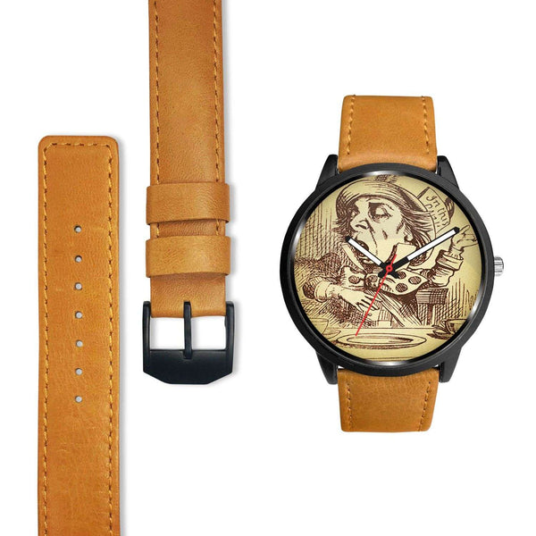Limited Edition Vintage Inspired Custom Watch Mad Hatter Alice In Wonderland 10.4