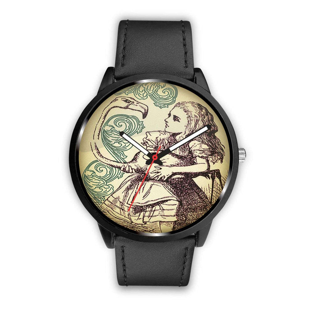 Limited Edition Vintage Inspired Custom Watch Croquet Game Alice In Wonderland 10.7