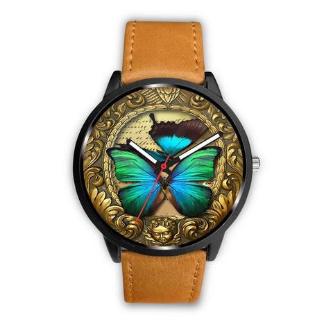 Limited Edition Vintage Inspired Custom Watch Steampunk Butterfly 3.5