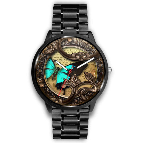 Limited Edition Vintage Inspired Custom Watch Steampunk Butterfly 3.14