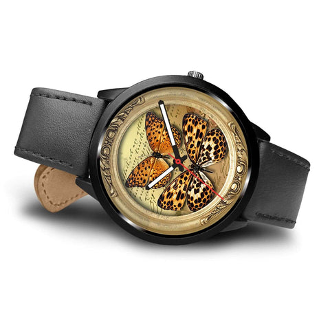 Limited Edition Vintage Inspired Custom Watch Steampunk Butterfly 3.19