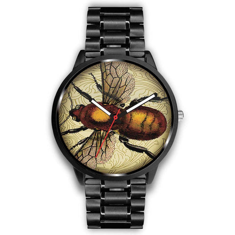 Limited Edition Vintage Inspired Custom Watch Steampunk Taxidermy Bee Bug 1.9
