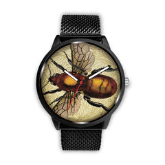 Image of Limited Edition Vintage Inspired Custom Watch Steampunk Taxidermy Bee Bug 1.9