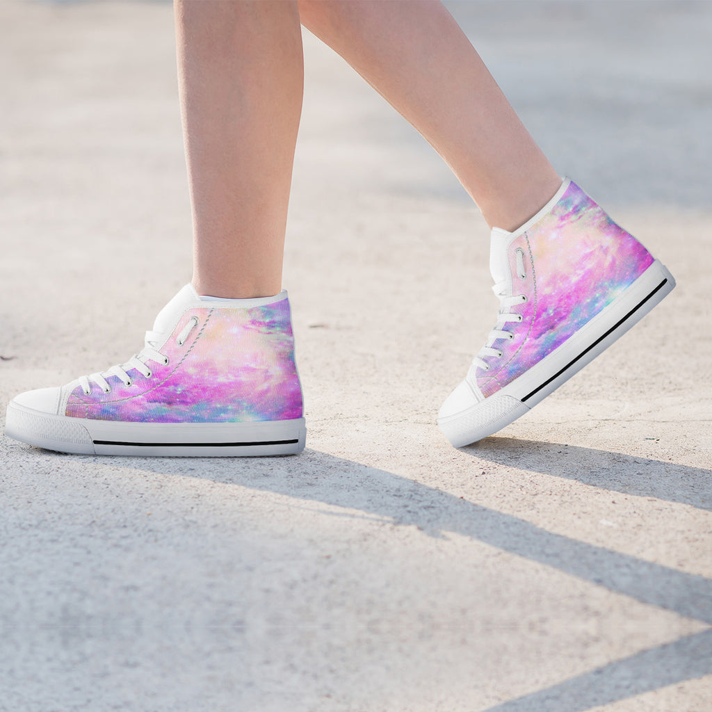 Galaxy Pastel Womens High Top Shoes