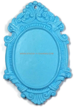 12 Resin Frame Setting Bezel Victorian Vintage Style fit 40x30 cameo Blue 4.1