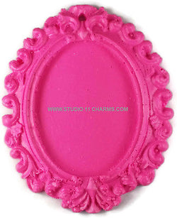 12pcs Resin Frame Setting Bezel Victorian Oval fit 40x30 cameo Pink 1.2