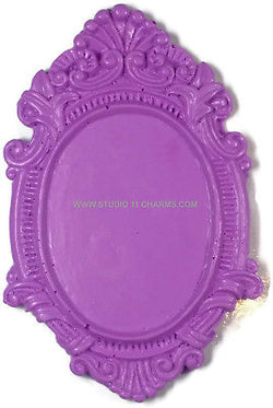 12 Resin Frame Setting Bezel Victorian Vintage Style fit 40x30 cameo  Purple