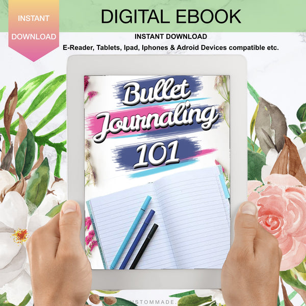 Bullet Journaling 101 Ebook, journaling, planner, digital journaling, digital planner
