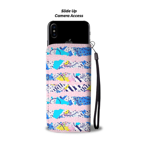 Custom Phone Wallets, Available For All Types Of Phones 80s Pattern 1