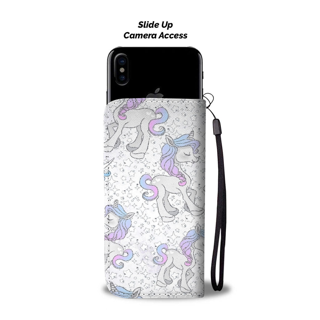 Custom Phone Wallet Available For All Phone Models Unicorn Fantasy Phone Wallet Case - STUDIO 11 COUTURE