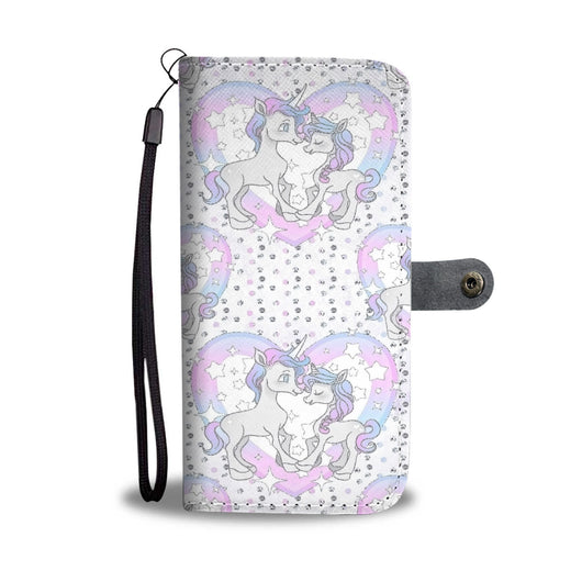 Custom Phone Wallet Available For All Phone Models Unicorn In Love Heart Phone Wallet - STUDIO 11 COUTURE