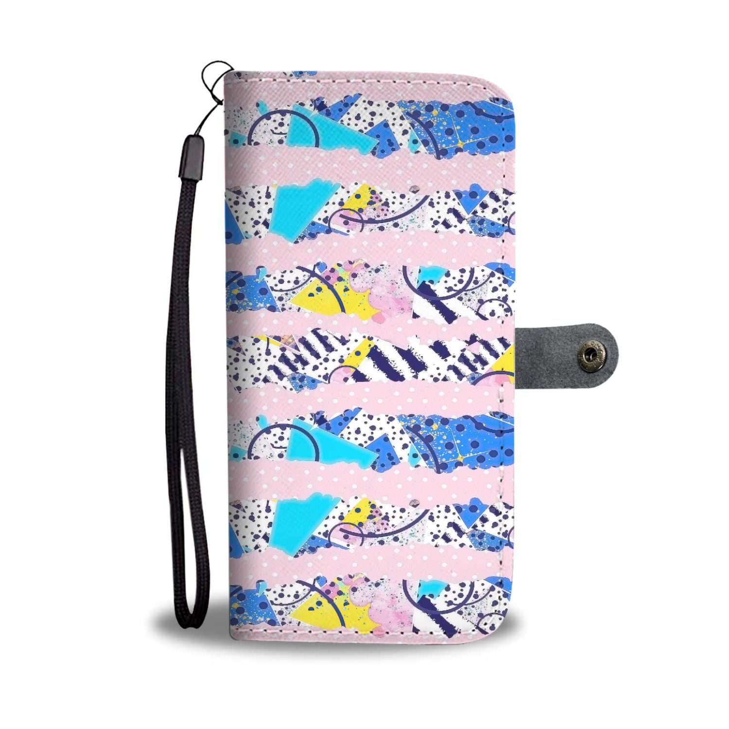 Custom Phone Wallet Available For All Phone Models 80's Fashion 1 Phone Wallet