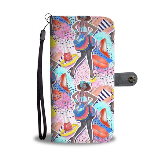 Custom Phone Wallet Available For All Phone Models 80's Fashion 8 Phone Wallet