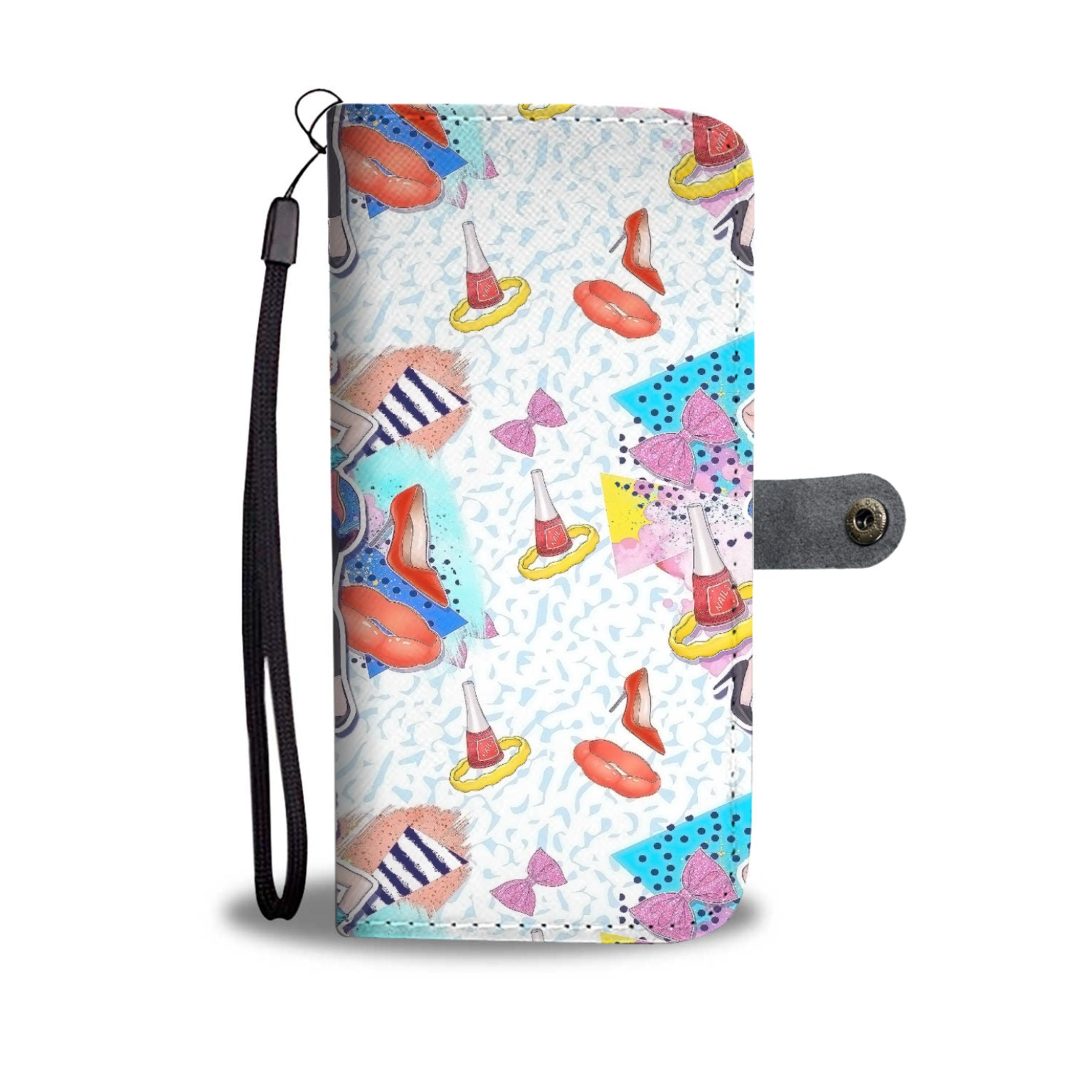 Custom Phone Wallet Available For All Phone Models 80's Fashion 10 Phone Wallet