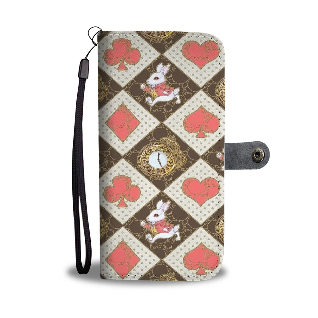 Custom Phone Wallet Available For All Phone Models Alice Red Cards Wallet - STUDIO 11 COUTURE