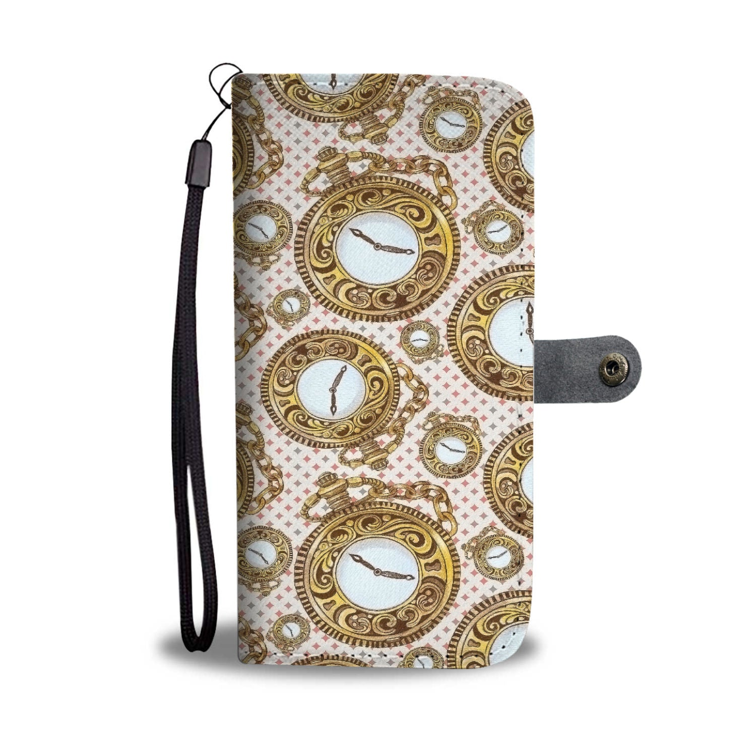 Custom Phone Wallet Available For All Phone Models Alice Pocket Watch Phone Wallet