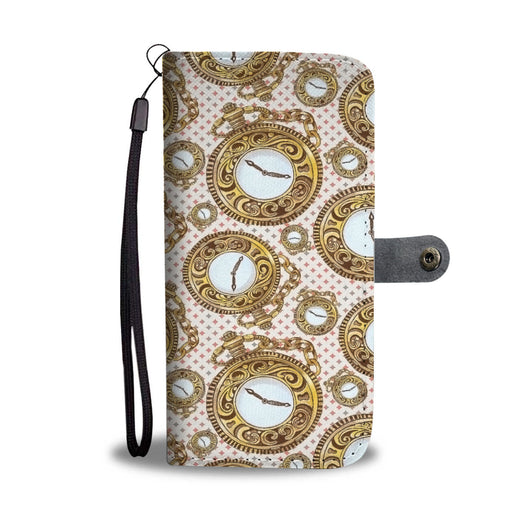 Custom Phone Wallet Available For All Phone Models Alice Pocket Watch Phone Wallet - STUDIO 11 COUTURE