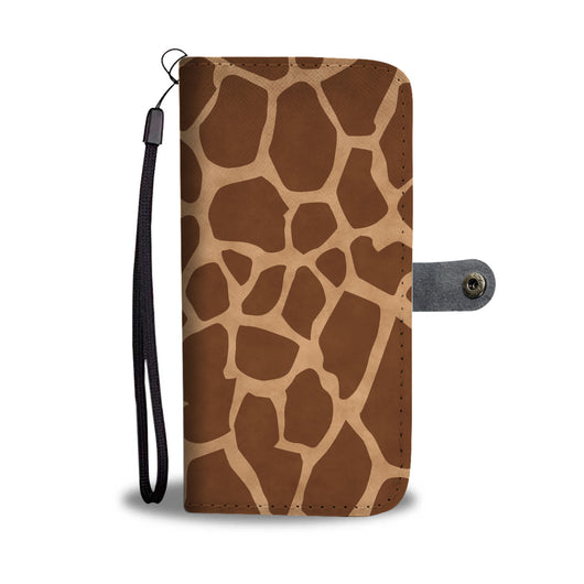 Custom Phone Wallet Available For All Phone Models Animal Print Giraffe Phone Wallet