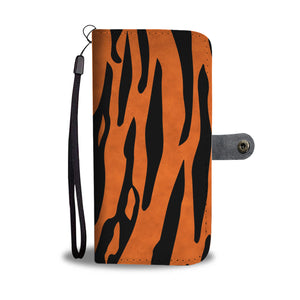 Custom Phone Wallet Available For All Phone Models Animal Print Tiger Stripes Phone Wallet
