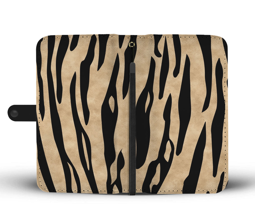 Custom Phone Wallet Available For All Phone Models Animal Print white tiger stripes Phone Wallet - STUDIO 11 COUTURE