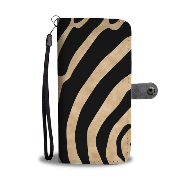 Custom Phone Wallet Available For All Phone Models Animal Print Zebra Stripes Phone Wallet