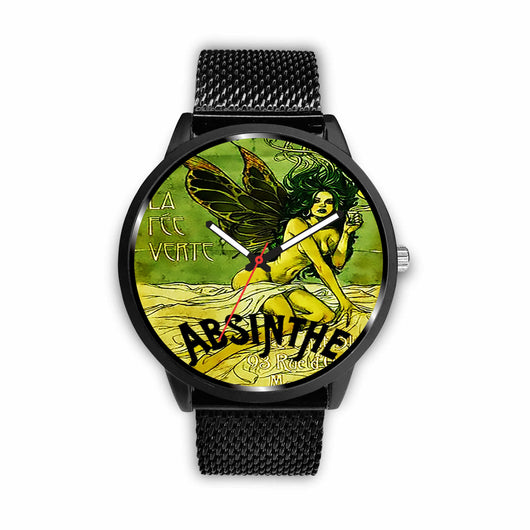 Limited Edition Vintage Inspired Custom Watch Absinthe Clock 1.22