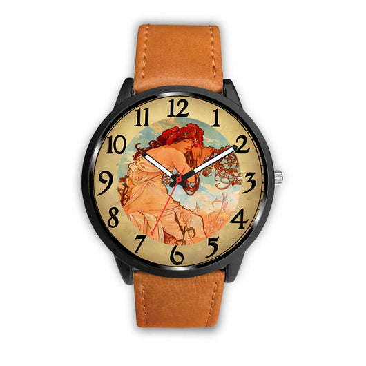 Limited Edition Vintage Inspired Custom Watch Alfred Mucha Clock 1.4