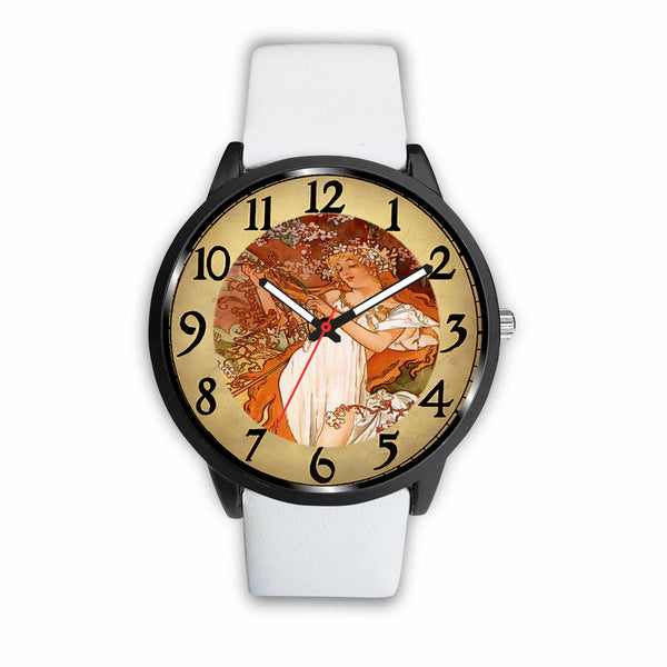 Limited Edition Vintage Inspired Custom Watch Alfred Mucha Clock 1.19