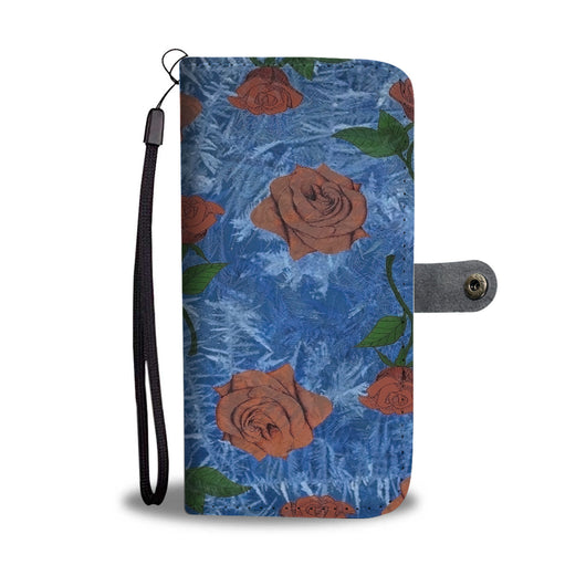 Custom Phone Wallet Available For All Phone Models Beauty and Beast Frozen Rose Phone Wallet - STUDIO 11 COUTURE
