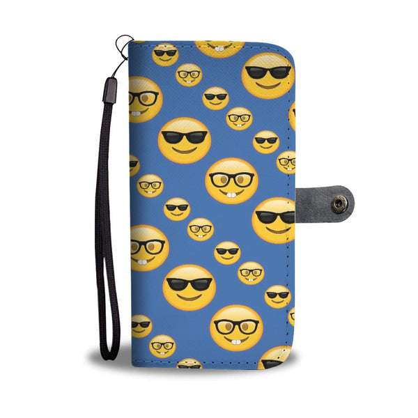 Custom Phone Wallet Available For All Phone Models Emojis Sunglasses Phone Wallet