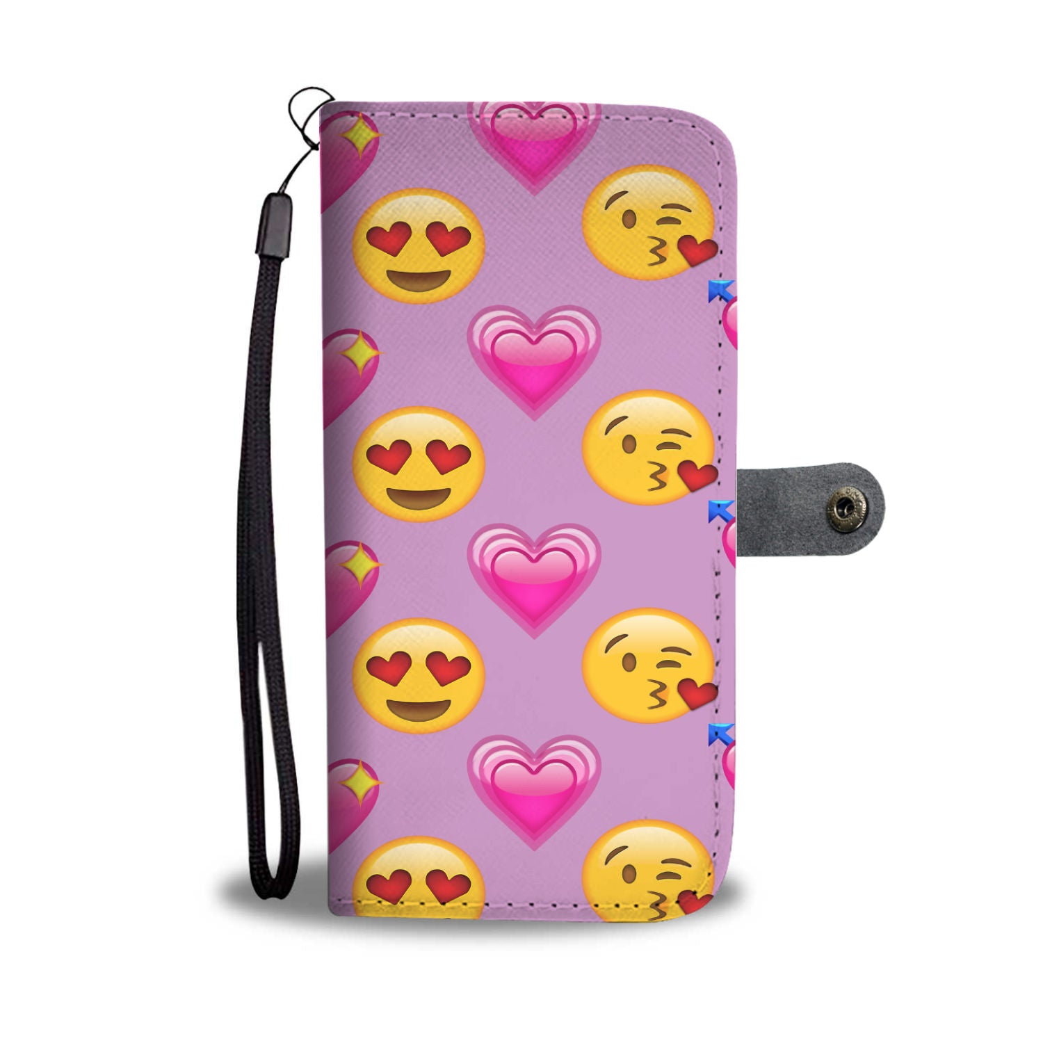 Custom Phone Wallet Available For All Phone Models Emojis Love Phone Wallet