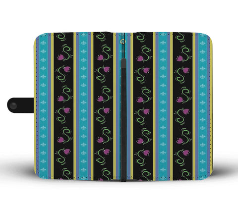 Custom Phone Wallet Available For All Phone Models Frozen Dress Pattern Phone Wallet - STUDIO 11 COUTURE