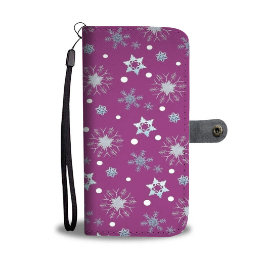 Custom Phone Wallet Available For All Phone Models Frozen Snowing Phone Wallet - STUDIO 11 COUTURE