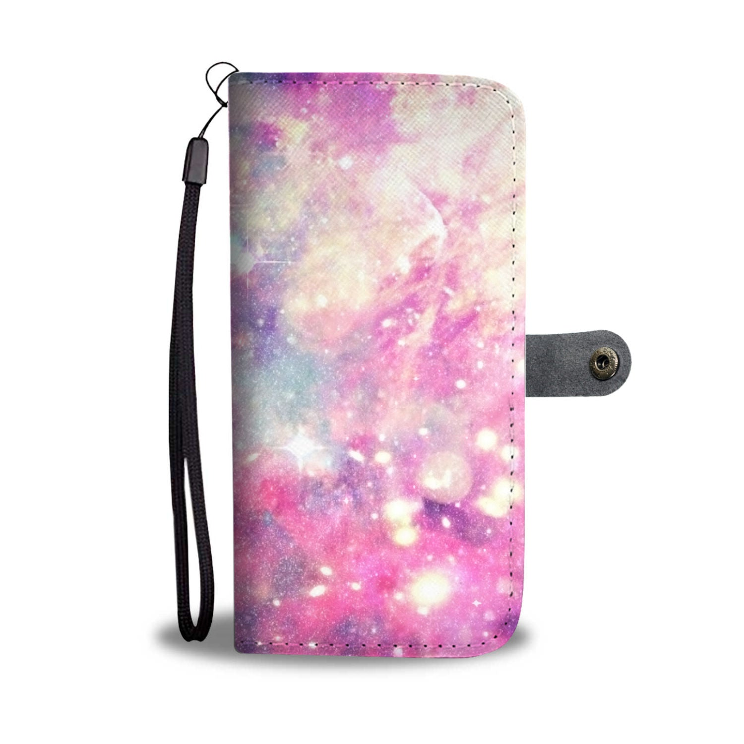 Custom Phone Wallet Available For All Phone Models Galaxy Pastel 2 Phone Wallet