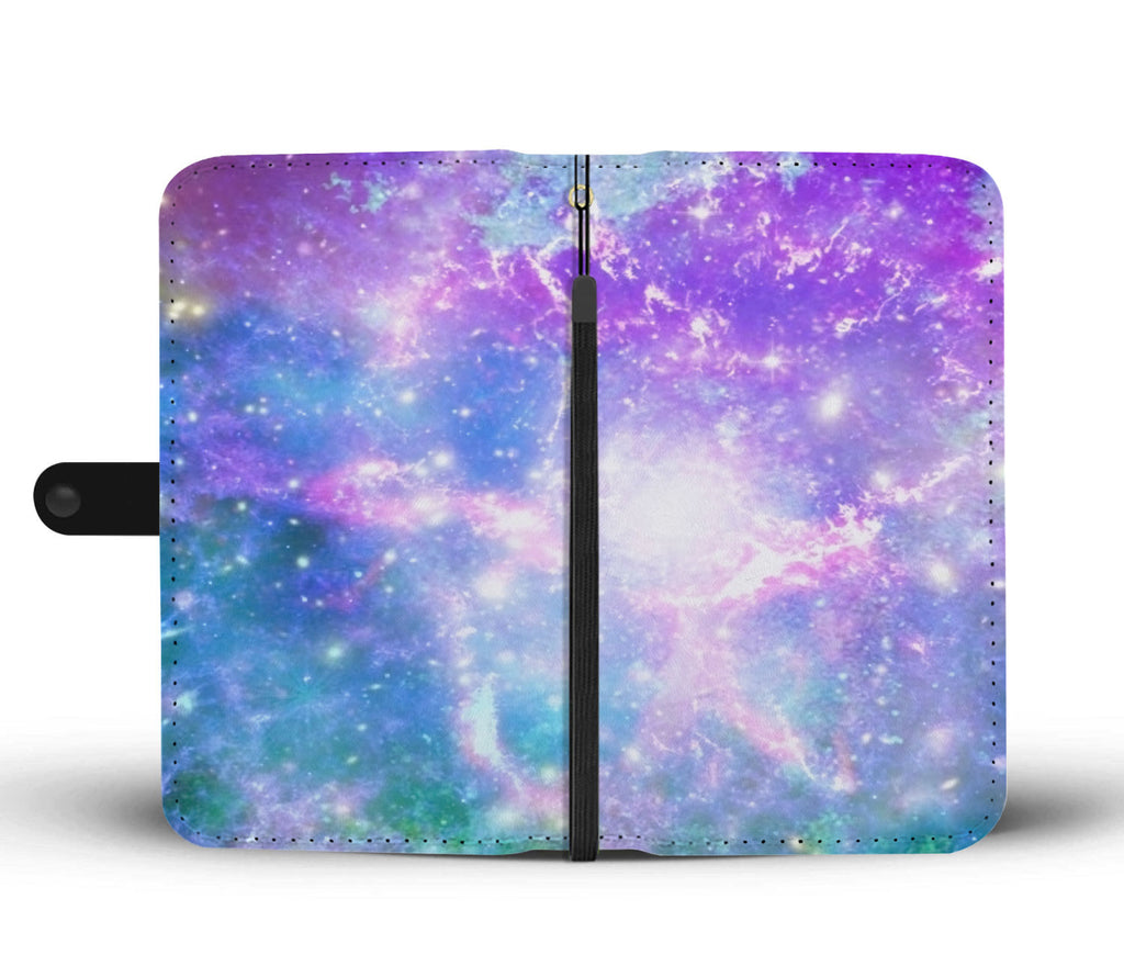 Custom Phone Wallet Available For All Phone Models Galaxy Pastel 3 Phone Wallet - STUDIO 11 COUTURE